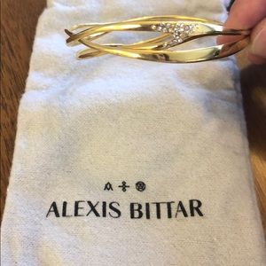 Alexis Bittar gold and crystal bangle